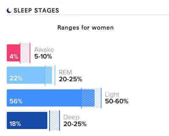 sleep stages and sleep cycles percentage