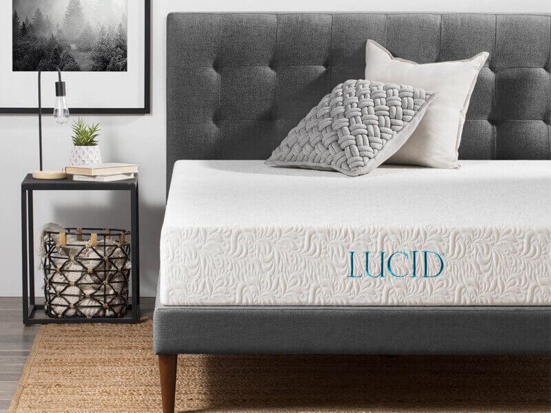 LUCID 10-Inch Latex Foam Mattress