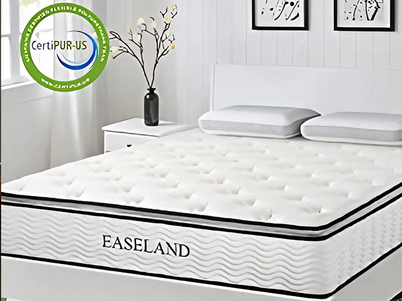 EASELAND Bamboo Pillow Top Hybrid Mattress
