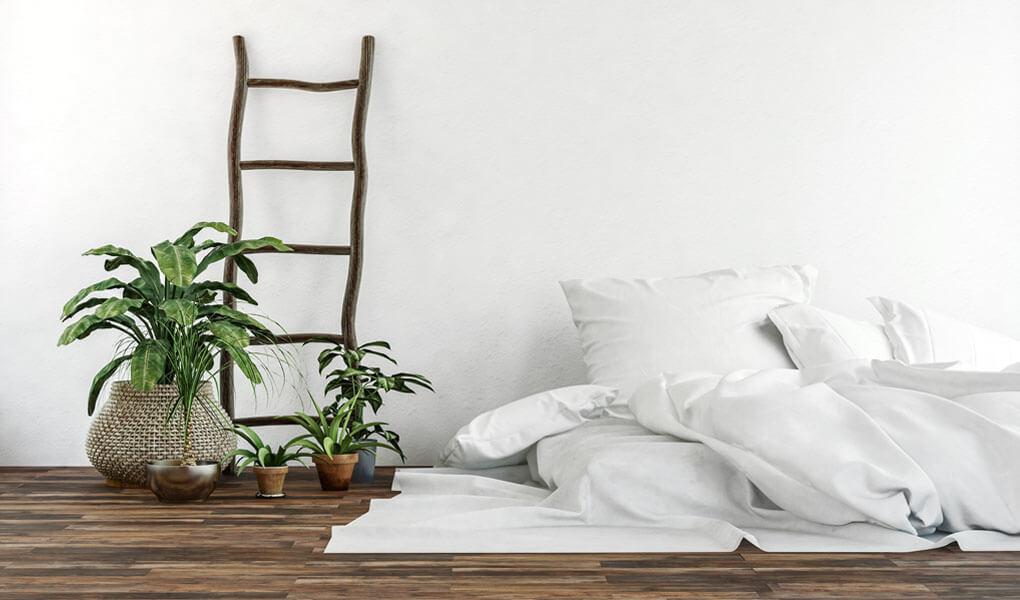 floor mattress in bedroom