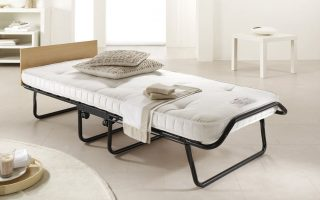 portable mattress in guest room