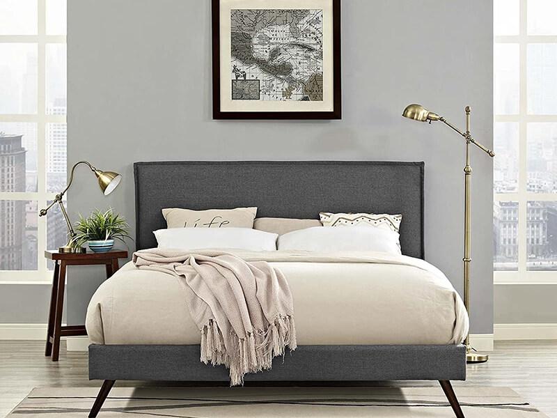 Modway Amaris Upholstered Platform Bed Frame
