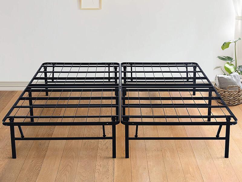 Olee Sleep Foldable Dura Metal Platform Bed Frame