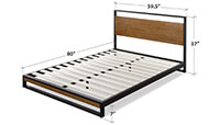 Zinus Suzanne Metal and Wood Bed Platform preview