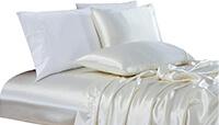 Chezmoi Collection 4-Piece Bridal Satin Sheet Set preview