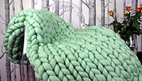 ERLYEEN Chunky Knit Blanket Merino Wool preview
