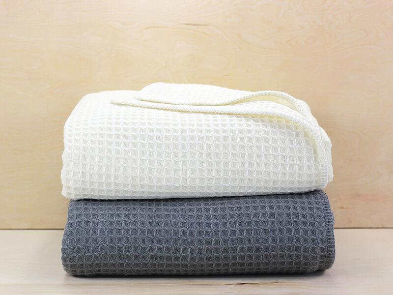 Melange Home Waffle Weave Merino Wool Blanket