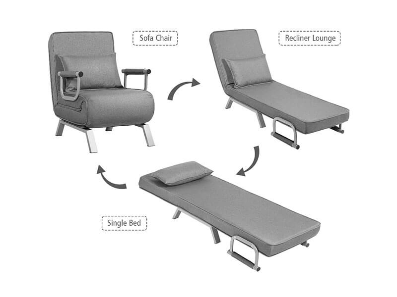 Giantex Convertible Sofa Bed Sleeper Chair