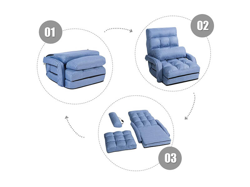 Giantex Folding Lazy Sofa with Massage Pillow