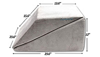 Lisenwood Foam Bed Wedge Pillow Set small